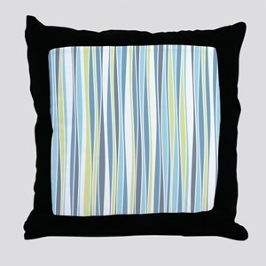 Wavy Stripes Throw Pillow