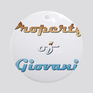 Property Of Giovani Male Round Ornament