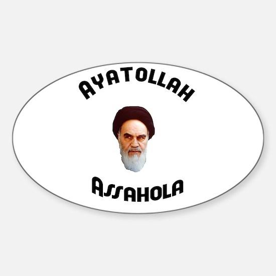 Homer's Ayatollah Assahola Sh Oval Decal