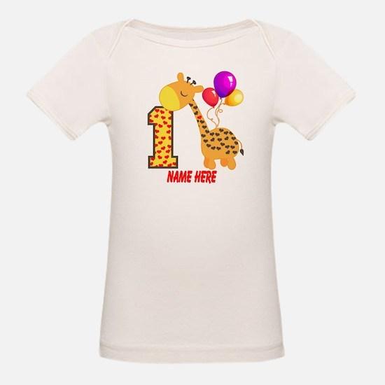 1st Birthday Giraffe Custom Tee