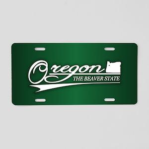 Oregon State of Mine Aluminum License Plate