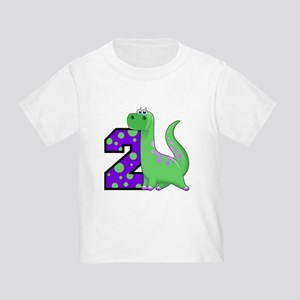 2nd Birthday Dinosaur Toddler T-Shirt