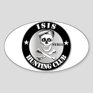 ISIS Hunting Club - Syria Sticker (Oval)
