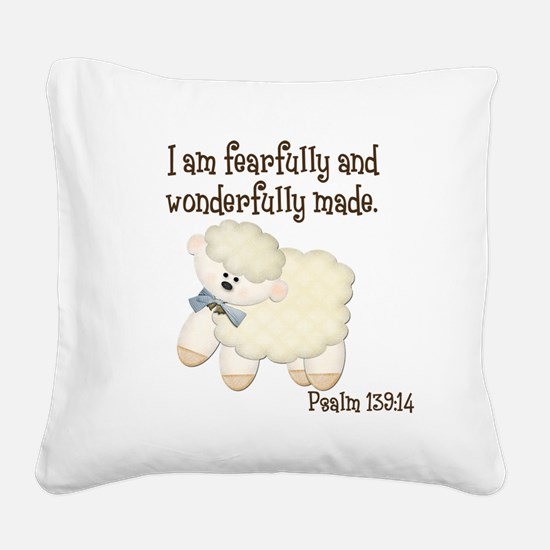 Wonderfullymade_Sheep Square Canvas Pillow