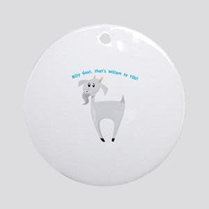 BILLY GOAT Ornament (Round)