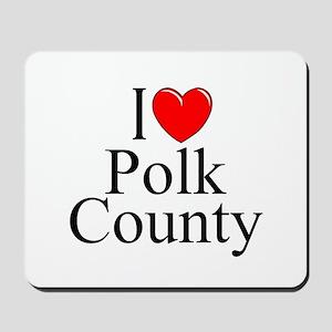 """I Love Polk County"" Mousepad"
