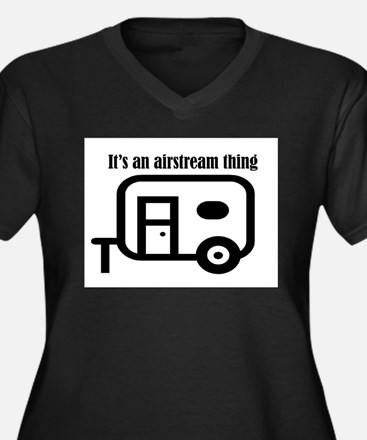 ITS AN AIRSTREAM THING Women's Plus Size V-Neck Da