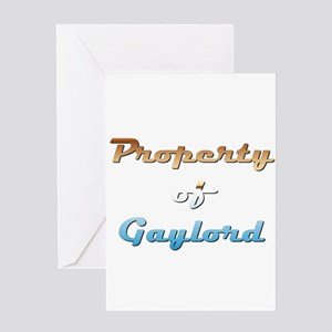 Property Of Gaylord Male Greeting Card