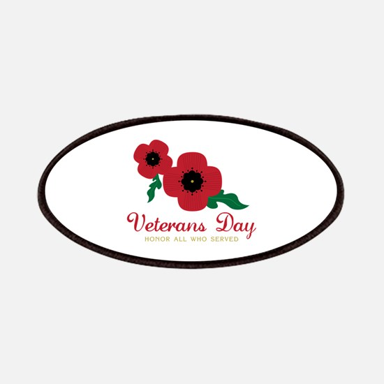 Veterans Day Honor Flowers Patches