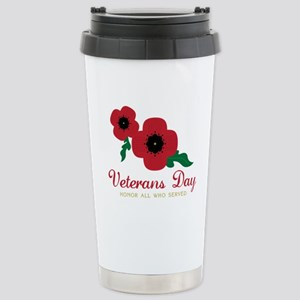 Veterans Day Honor Flowers Travel Mug