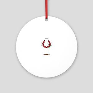 Wreath Gravestone Ornament (Round)