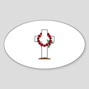 Wreath Gravestone Sticker