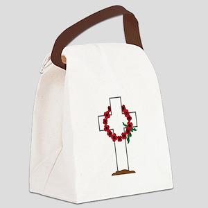 Wreath Gravestone Canvas Lunch Bag