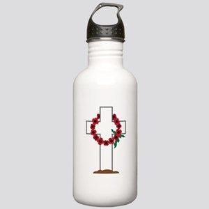 Wreath Gravestone Water Bottle
