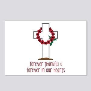 Thankful Hearts Postcards (Package of 8)