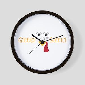 Gobble! Gobble! Wall Clock