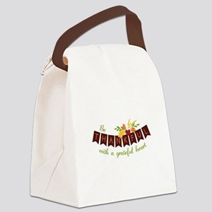 Be Thankful With A Grateful Heart Canvas Lunch Bag