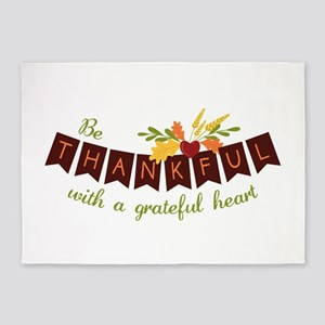 Be Thankful With A Grateful Heart 5'x7'Area Rug