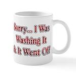 Washing It / Went Off Mug