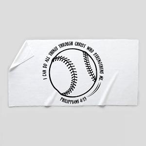 PHILIPPIANS 4:13 Beach Towel