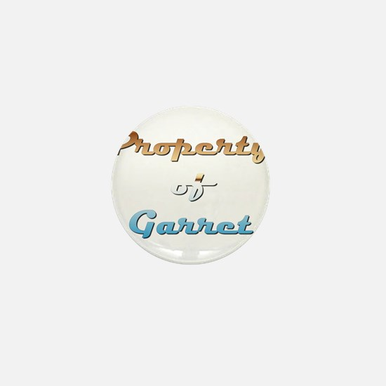 Property Of Garret Male Mini Button