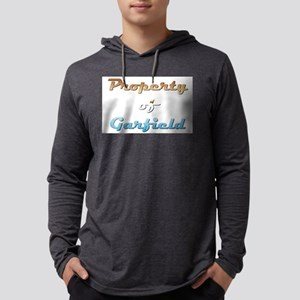Property Of Garfield Male Mens Hooded Shirt