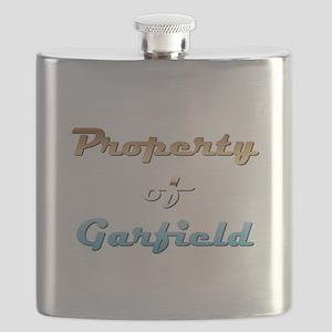 Property Of Garfield Male Flask