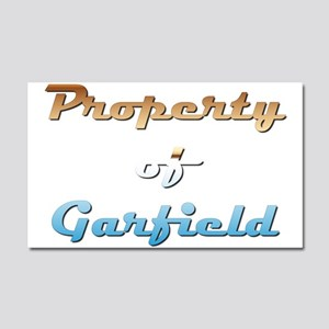 Property Of Garfield Male Car Magnet 20 x 12