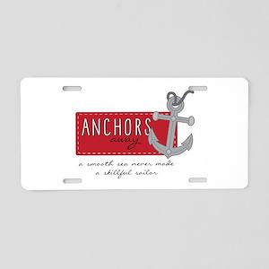 Skillfull Sailor Aluminum License Plate