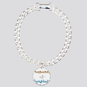 Property Of Garfield Male Charm Bracelet, One Char