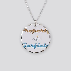 Property Of Garfield Male Necklace Circle Charm