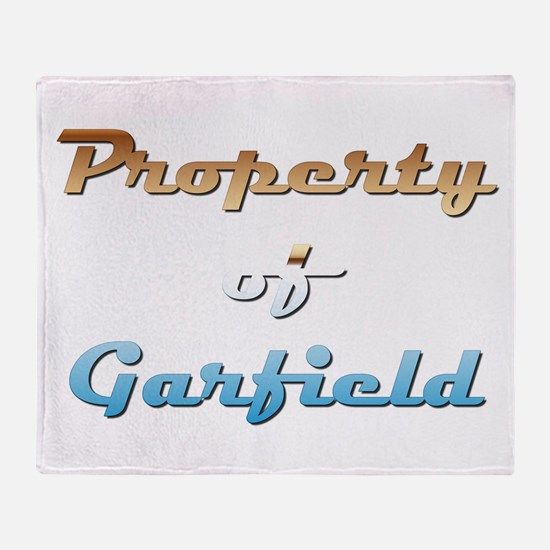 Property Of Garfield Male Throw Blanket