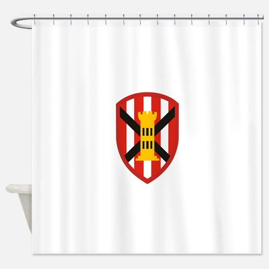 7th Engineer Bde.png Shower Curtain