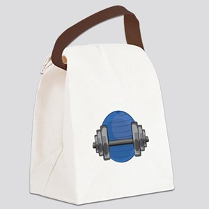 Workout Gear Canvas Lunch Bag