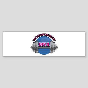Bootcamp Diva Bumper Sticker