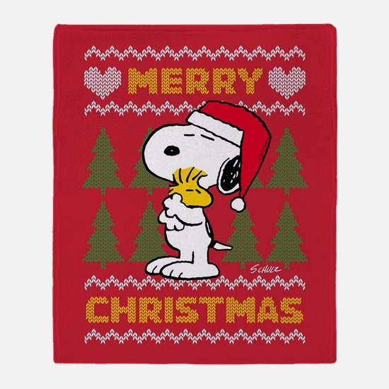 Snoopy Merry Throw Blanket