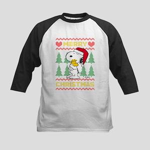 Snoopy Merry Kids Baseball Tee