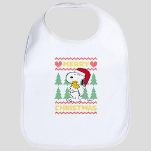 Snoopy Merry Cotton Baby Bib