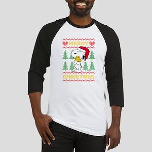 Snoopy Merry Baseball Tee
