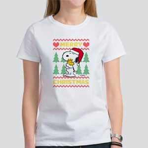 Snoopy Merry Women's Classic White T-Shirt