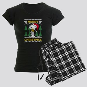 Snoopy Merry Women's Dark Pajamas