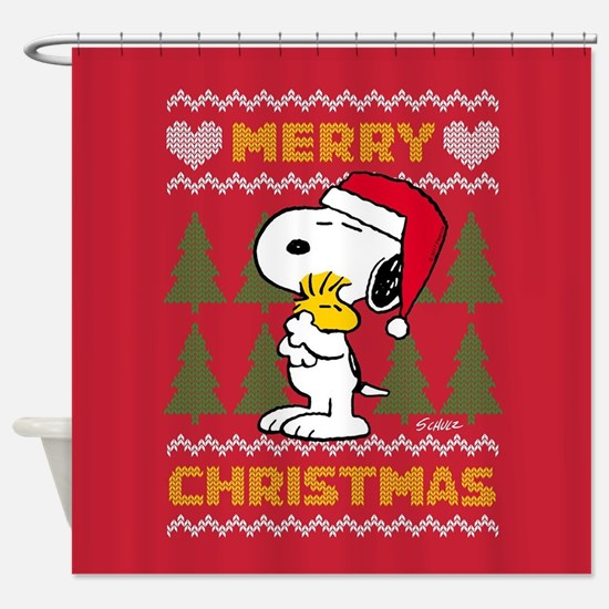 Snoopy Merry Shower Curtain
