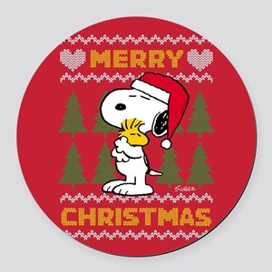 Snoopy Merry Round Car Magnet