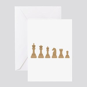 Chess Pieces Greeting Cards
