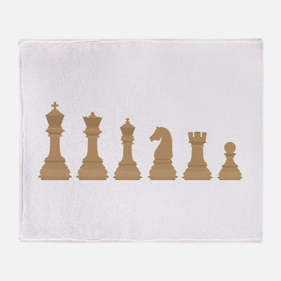 Chess Pieces Throw Blanket