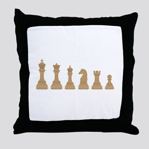Chess Pieces Throw Pillow