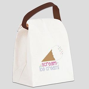 I Scream Ice Cream! Canvas Lunch Bag