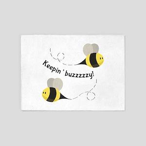 Keepin' Buzzzzzy! 5'x7'Area Rug