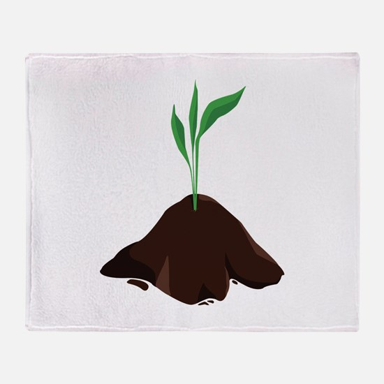 Plant Sprout Throw Blanket
