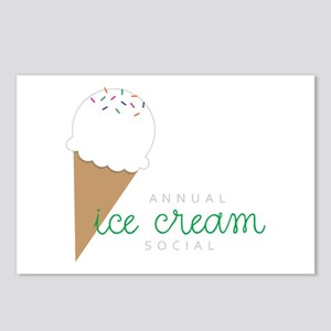 Annual Ice Cream Social Postcards (Package of 8)